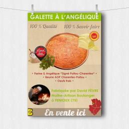 Affiche de promotion de la galette à l'angélique