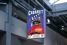 Affiche du cabaret 2015 de Coulonges thème Cinéma